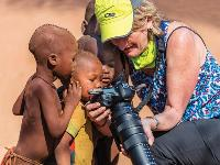 Local Himba children fascinated with the camera |  <i>Peter Walton</i>