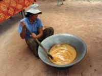 Local woman cooking hot palm sugar on the streets of Cambodia |  <i>Alana Johnstone</i>