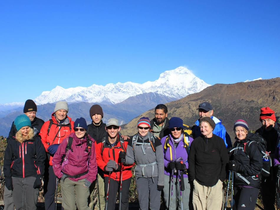 Group shot in front of Dhaulagiri -  Photo: Brad Atwal