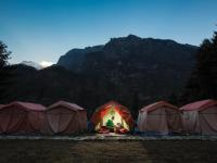 Comfortable camping in Nepal at our semi-permanent campsites |  <i>Mark Tipple</i>