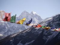 Prayer flags blowing in the breeze |  <i>Charles Duncombe</i>