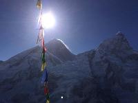 Everest looms high above the summits; Nuptse Nup II and Changtse. |  <i>Brock Martin</i>