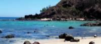 Fringing reefs running directly off the beach front near Tavewa Island | Kylie Turner