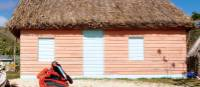 Colourful hut on the beach front in the Yasawas | Kylie Turner
