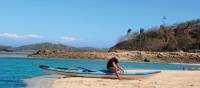 Enjoying the warm sunshine while relaxing on the beaches of Vawa Island | Kylie Turner