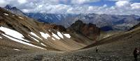 Beautiful landscape while crossing the Thorong La on the Great Himalaya Trail   Ray Mustey