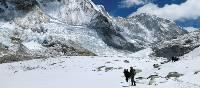 Trekking through snow on the way towards Ghunsa   Ray Mustey